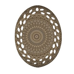 Background Mandala Oval Filigree Ornament (two Sides)
