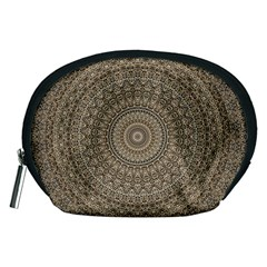Background Mandala Accessory Pouches (medium)  by BangZart