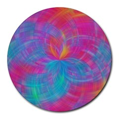 Abstract Fantastic Fractal Gradient Round Mousepads