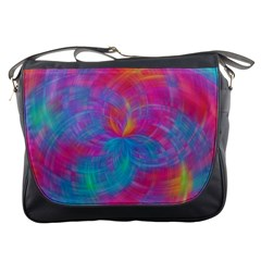 Abstract Fantastic Fractal Gradient Messenger Bags