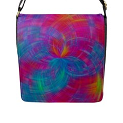 Abstract Fantastic Fractal Gradient Flap Messenger Bag (l)