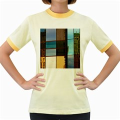 Glass Facade Colorful Architecture Women s Fitted Ringer T Shirts