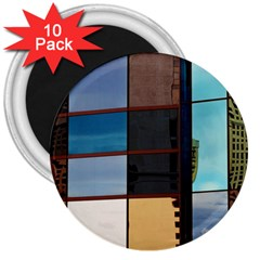 Glass Facade Colorful Architecture 3  Magnets (10 Pack)  by BangZart