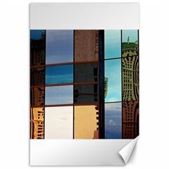 Glass Facade Colorful Architecture Canvas 24  X 36  by BangZart