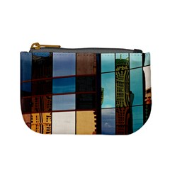 Glass Facade Colorful Architecture Mini Coin Purses by BangZart