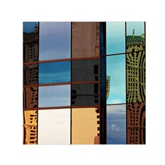 Glass Facade Colorful Architecture Small Satin Scarf (square) by BangZart
