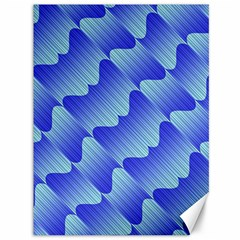 Gradient Blue Pinstripes Lines Canvas 36  X 48   by BangZart