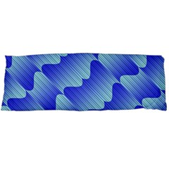 Gradient Blue Pinstripes Lines Body Pillow Case (dakimakura)