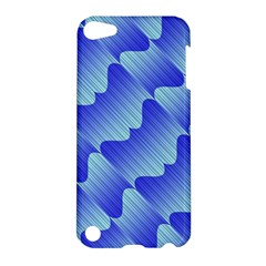 Gradient Blue Pinstripes Lines Apple Ipod Touch 5 Hardshell Case
