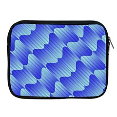 Gradient Blue Pinstripes Lines Apple Ipad 2/3/4 Zipper Cases