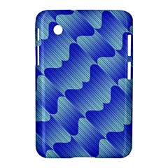 Gradient Blue Pinstripes Lines Samsung Galaxy Tab 2 (7 ) P3100 Hardshell Case