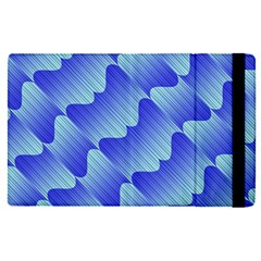Gradient Blue Pinstripes Lines Apple Ipad Pro 9 7   Flip Case by BangZart