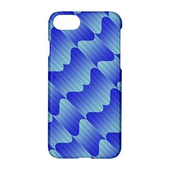 Gradient Blue Pinstripes Lines Apple Iphone 7 Hardshell Case