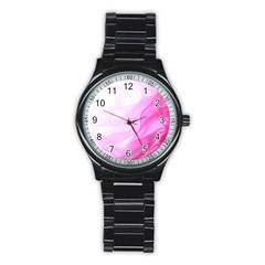 Material Ink Artistic Conception Stainless Steel Round Watch
