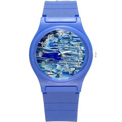 Graphics Wallpaper Desktop Assembly Round Plastic Sport Watch (s)