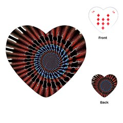 The Fourth Dimension Fractal Noise Playing Cards (heart)
