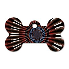 The Fourth Dimension Fractal Noise Dog Tag Bone (two Sides)