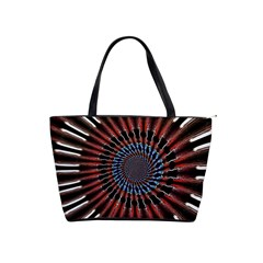 The Fourth Dimension Fractal Noise Shoulder Handbags