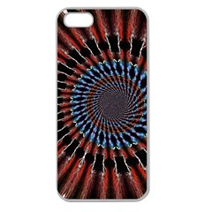 The Fourth Dimension Fractal Noise Apple Seamless Iphone 5 Case (clear) by BangZart