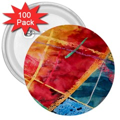 Painting Watercolor Wax Stains Red 3  Buttons (100 Pack)  by BangZart