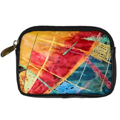 Painting Watercolor Wax Stains Red Digital Camera Cases