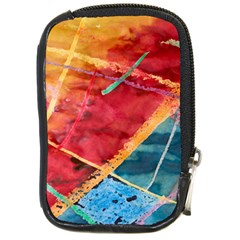 Painting Watercolor Wax Stains Red Compact Camera Cases