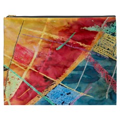 Painting Watercolor Wax Stains Red Cosmetic Bag (xxxl)