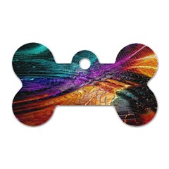 Graphics Imagination The Background Dog Tag Bone (one Side)