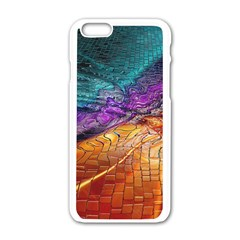 Graphics Imagination The Background Apple Iphone 6/6s White Enamel Case
