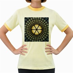 Stained Glass Colorful Glass Women s Fitted Ringer T Shirts