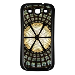 Stained Glass Colorful Glass Samsung Galaxy S3 Back Case (black) by BangZart