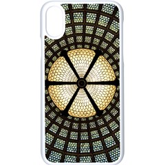Stained Glass Colorful Glass Apple Iphone X Seamless Case (white)