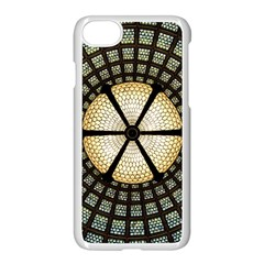 Stained Glass Colorful Glass Apple Iphone 8 Seamless Case (white)