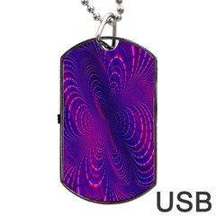 Abstract Fantastic Fractal Gradient Dog Tag Usb Flash (two Sides)