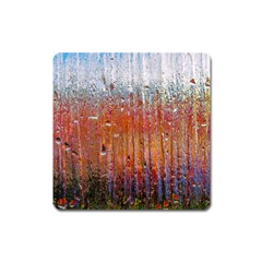 Glass Colorful Abstract Background Square Magnet