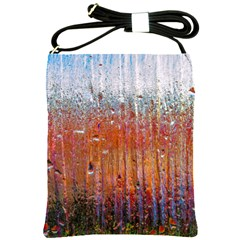 Glass Colorful Abstract Background Shoulder Sling Bags by BangZart