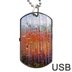 Glass Colorful Abstract Background Dog Tag Usb Flash (one Side) by BangZart