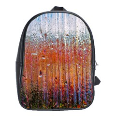 Glass Colorful Abstract Background School Bag (xl) by BangZart