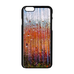 Glass Colorful Abstract Background Apple Iphone 6/6s Black Enamel Case