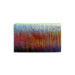 Glass Colorful Abstract Background Cosmetic Bag (xs)