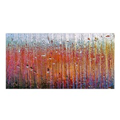 Glass Colorful Abstract Background Satin Shawl