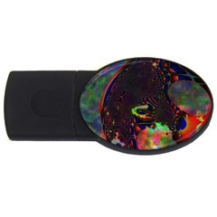 The Fourth Dimension Fractal Usb Flash Drive Oval (2 Gb) by BangZart