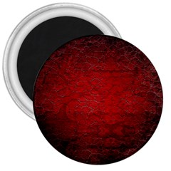 Red Grunge Texture Black Gradient 3  Magnets by BangZart