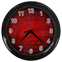 Red Grunge Texture Black Gradient Wall Clocks (black) by BangZart