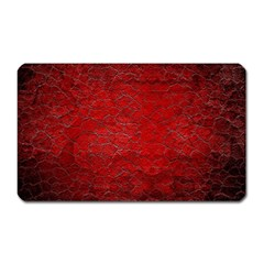 Red Grunge Texture Black Gradient Magnet (rectangular) by BangZart