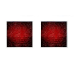 Red Grunge Texture Black Gradient Cufflinks (square) by BangZart