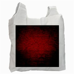 Red Grunge Texture Black Gradient Recycle Bag (two Side)