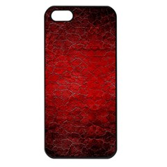Red Grunge Texture Black Gradient Apple Iphone 5 Seamless Case (black)