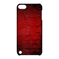 Red Grunge Texture Black Gradient Apple Ipod Touch 5 Hardshell Case With Stand
