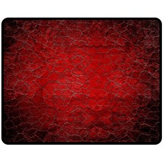 Red Grunge Texture Black Gradient Double Sided Fleece Blanket (medium)  by BangZart